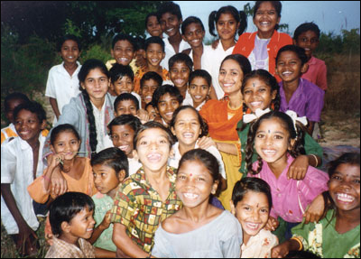Group of Children in Mulbar, Orissa India