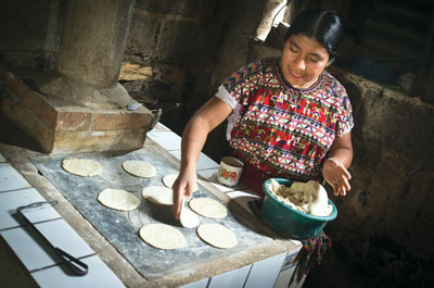 Elena Bernal from Guatemal using new cookstove