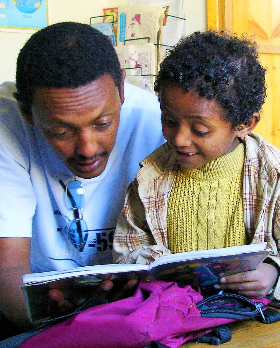 Father and child in Ethiopia